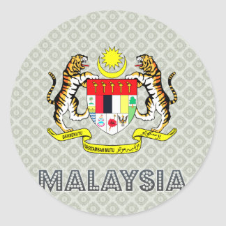 Malaysia Coat of Arms Classic Round Sticker