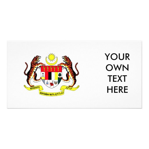 Malaysia Coat of Arms Picture Card