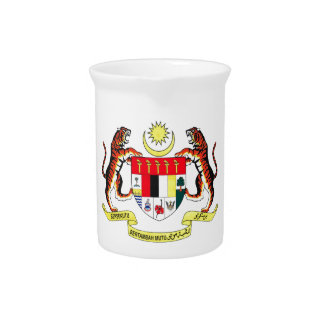 Malaysia Coat of Arms Drink Pitchers