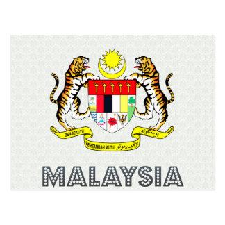 Malaysia Coat of Arms Postcard