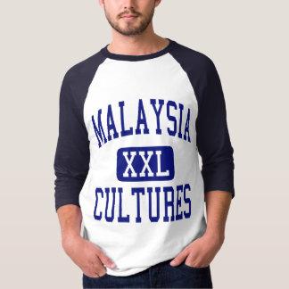Malaysia Cultures Blue Tee Shirt