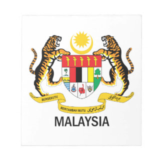 MALAYSIA - emblem flag symbol coat of arms Memo Pad