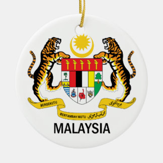 MALAYSIA - emblem/flag/symbol/coat of arms Double-Sided Ceramic Round Christmas Ornament
