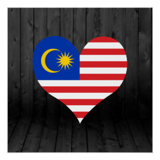 Malaysia flag colored poster