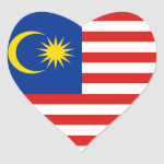 Malaysia Flag Heart Sticker