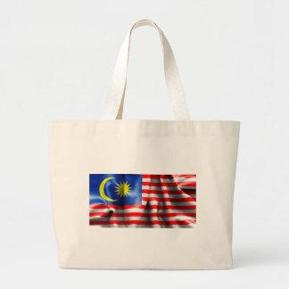 Malaysia Flag Large Tote Bag