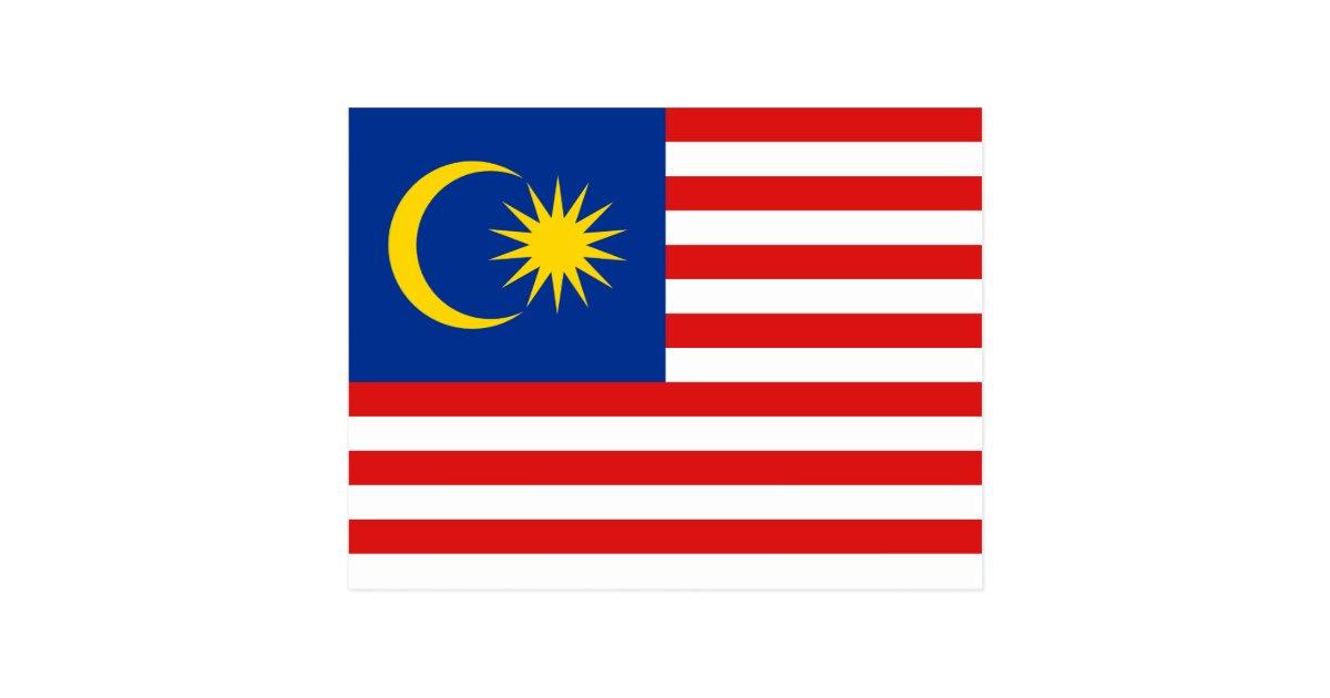Malaysia Flag Postcard Zazzle