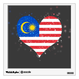 Malaysia Flag Shining Unique Wall Decal