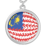 Malaysia Gnarly Flag Custom Necklace