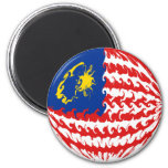 Malaysia Gnarly Flag Magnets