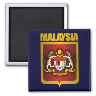"""""""Malaysia Gold"""" 2 Inch Square Magnet"""