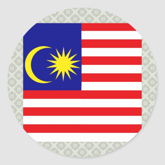 Malaysia High quality Flag Classic Round Sticker
