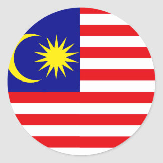 Malaysia High quality Flag Classic Round Sticker
