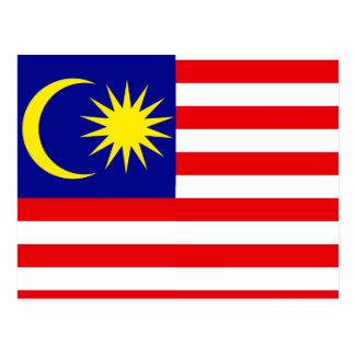 Malaysia High quality Flag Postcard