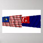 Malaysia & Johor waving flags Posters