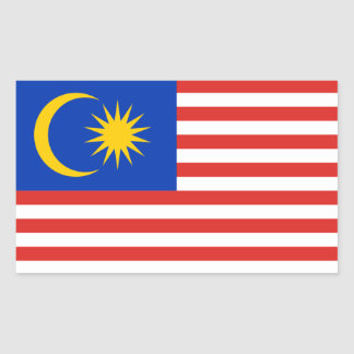 Malaysia/Malaysian/Malay Flag Rectangular Sticker