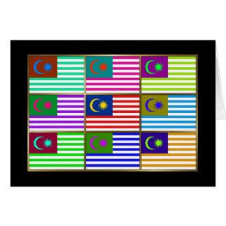 Malaysia Multihue Flags Greeting Card