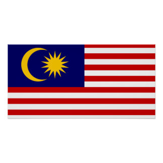 Malaysia National World Flag Poster