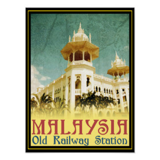 Malaysia Old Railway Station Poster