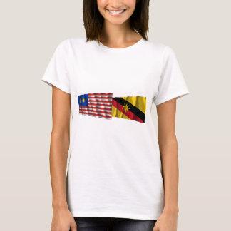 Malaysia & Sarawak waving flags T-Shirt