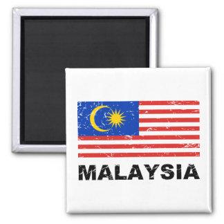 Malaysia Vintage Flag Refrigerator Magnet