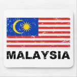 Malaysia Vintage Flag Mousepad