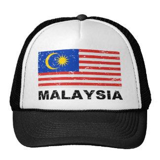 Malaysia Vintage Flag Trucker Hat