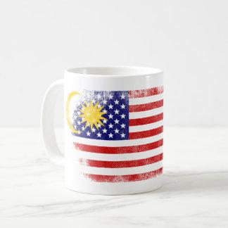 Malaysian American Flag   Malaysia and USA Design Coffee Mug