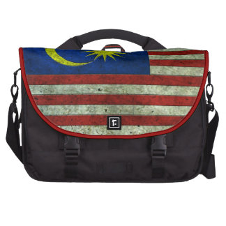 Malaysian Flag Aged Steel Effect Laptop Bag
