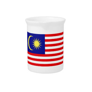 Malaysian Flag Beverage Pitcher