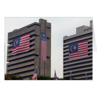 malaysian flag bldgs card