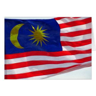 malaysian flag card