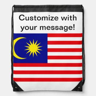 Malaysian Flag Drawstring Backpack