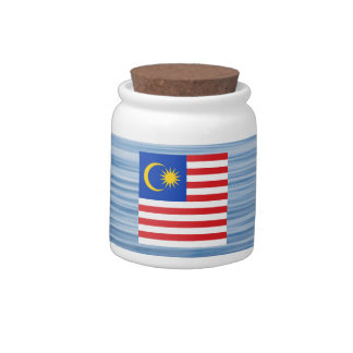 Malaysian Flag Floating on water Candy Jar