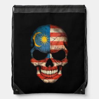 Malaysian Flag Skull on Black Backpacks