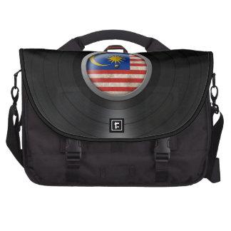 Malaysian Flag Vinyl Record Album Graphic Commuter Bags