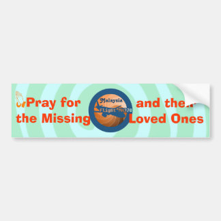 Malaysian flight bumper sticker