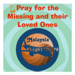 Malaysian flight poster