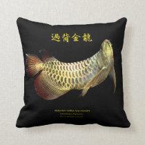 Malaysian Golden Arowana Throw Pillow