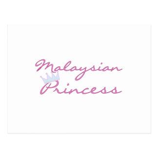 Malaysian Princess Postcard