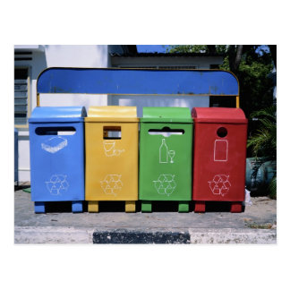 Malaysian Recycling Bins Postcard