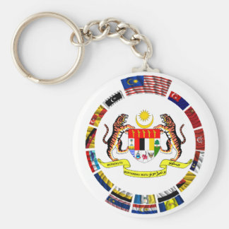 Malaysian waving flags with arms keychain