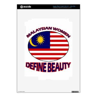 malaysian women designs skins for iPad 3