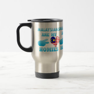 Malaysians are my Homies 15 Oz Stainless Steel Travel Mug