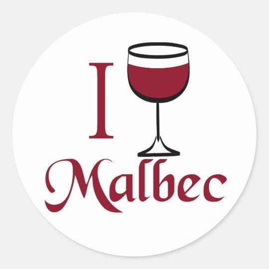 Malbec Wine Lover Gifts Classic Round Sticker
