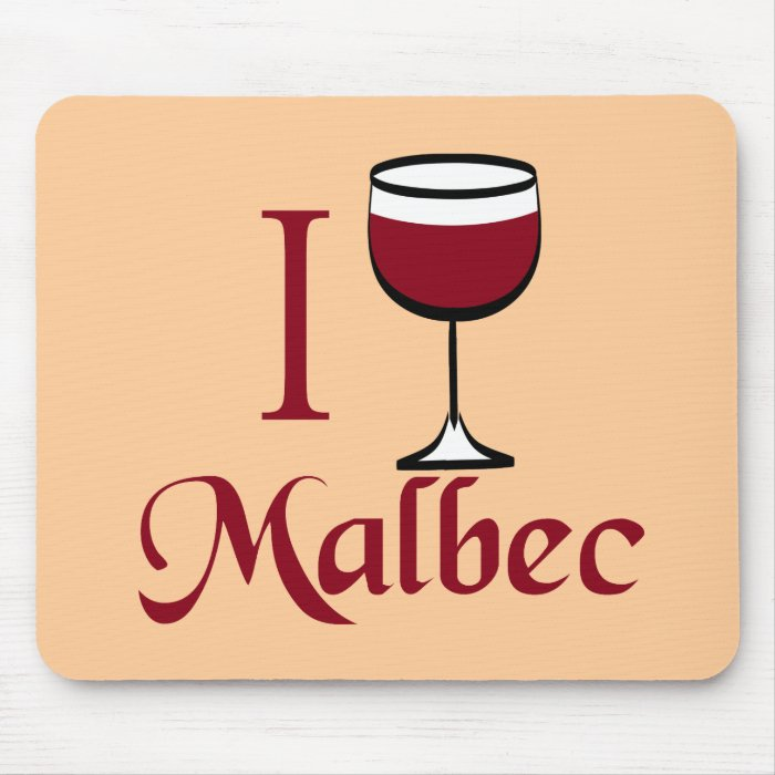 Malbec Wine Lover Gifts Mouse Pad