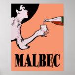Malbec Wine Vintage Lady Posters