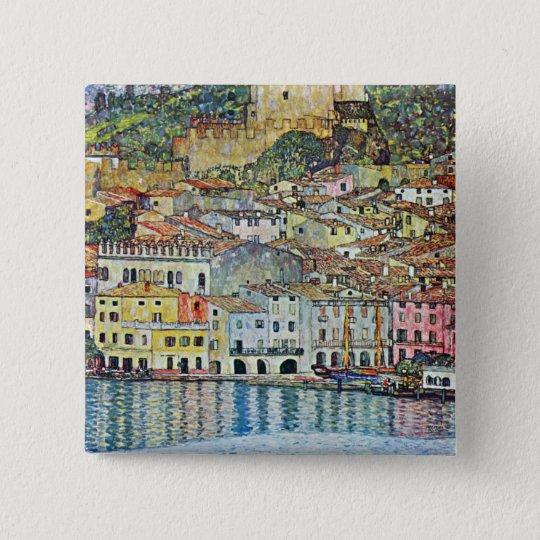 Malcena at the Gardasee by Gustav Klimt Button