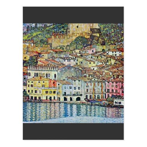 Malcena at the Gardasee by Gustav Klimt Post Cards
