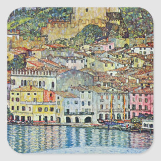Malcena at the Gardasee by Gustav Klimt Sticker